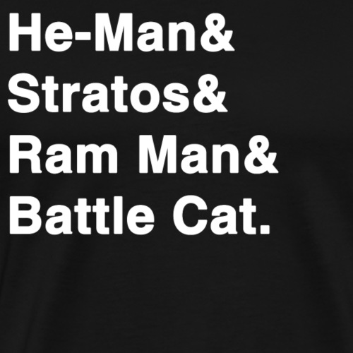 Classic List T-Shirt: He-Man MOTU - Men's Premium T-Shirt