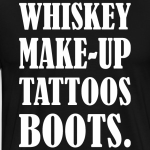 Whiskey Makeup Tattoos Boots - Men's Premium T-Shirt