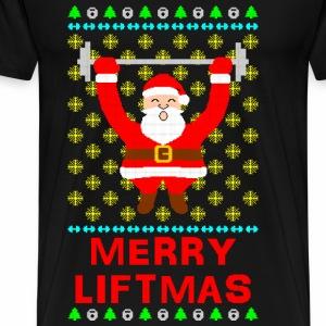 Merry Liftmas Ugly Christmas Sweater - Men's Premium T-Shirt