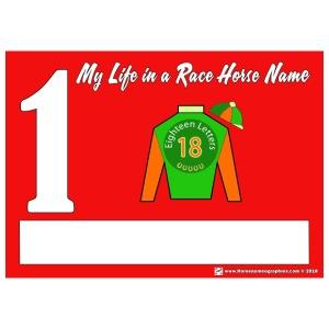 My Race Horse Name: Saddle Cloth #1 - Men's Premium T-Shirt