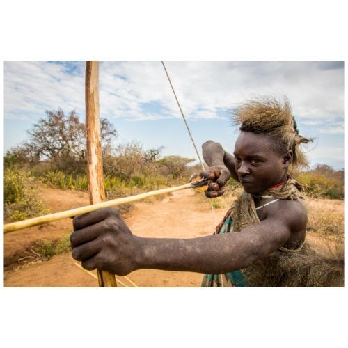 African Bushman Hunter - Men's Premium T-Shirt