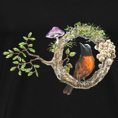 Bird / tree /fungi /mushroom - Men's Premium T-Shirt