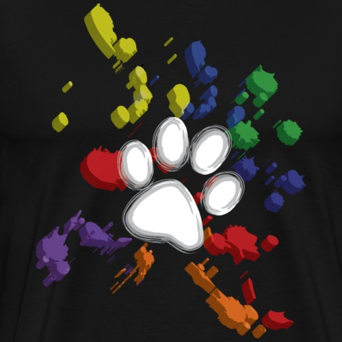 Paw Splatter Puppy Play Pup Play - Men's Premium T-Shirt