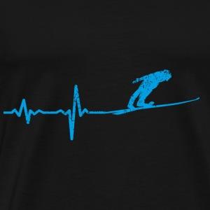 Heartbeat ski jumping gift - Men's Premium T-Shirt