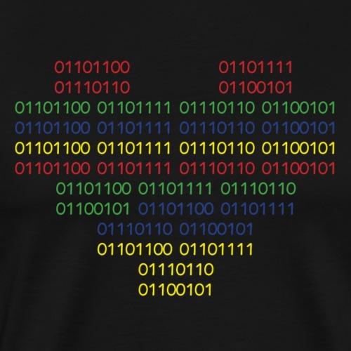 binary love - Men's Premium T-Shirt