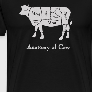 Anatomy of Cow - Men's Premium T-Shirt