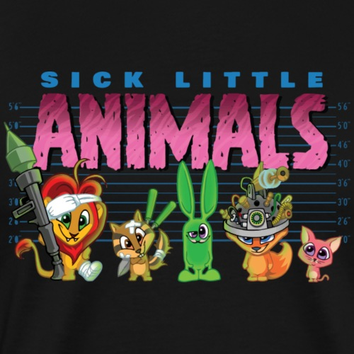Sick Little Animals LINE-UP - Men's Premium T-Shirt