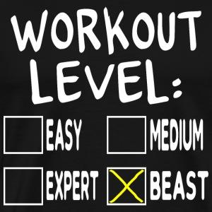 Workout Level Beast - Men's Premium T-Shirt