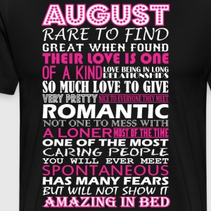 August Rare To Find Romantic Amazing To Bed - Men's Premium T-Shirt