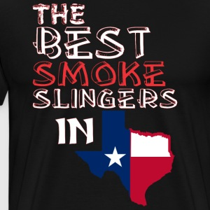 The Best Smoke Slingers In Texas Barbecue - Men's Premium T-Shirt