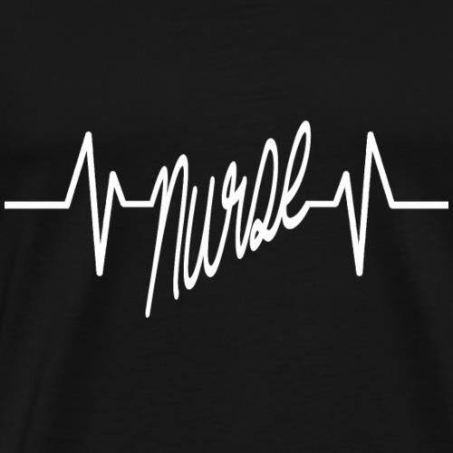 Nurse heartbeat - Nurse T-Shirt - Men's Premium T-Shirt