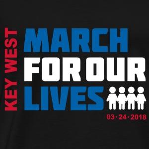 March for Our Lives Key West (4 dark textile) - Men's Premium T-Shirt