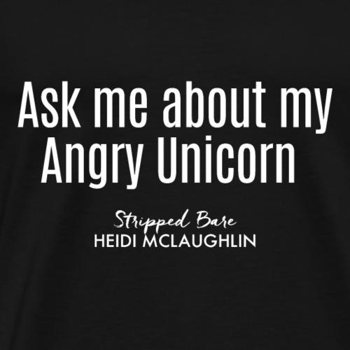 AngryUnicorn White - Men's Premium T-Shirt