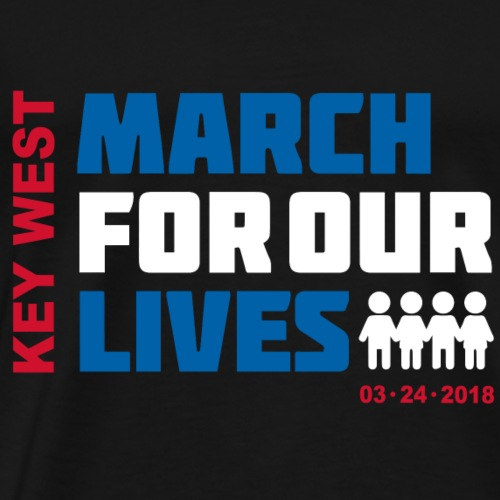 March for Our Lives Key West (4 dark textile) - Men's Premium T-Shirt