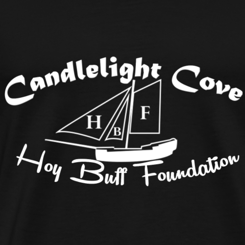 Hoy Buff Foundation White Logo - Men's Premium T-Shirt