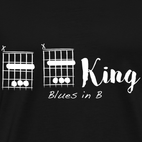 B B King, blues in B - Men's Premium T-Shirt
