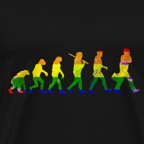 LGBT evolution - Men's Premium T-Shirt