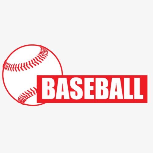 Baseball Block Text - Men's Premium T-Shirt