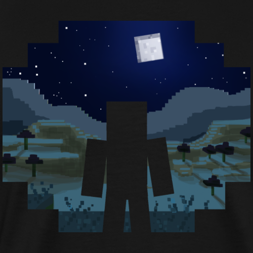 Mine craft Landscape Night - Men's Premium T-Shirt