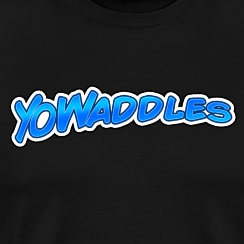 YoWaddles logo blue - Men's Premium T-Shirt