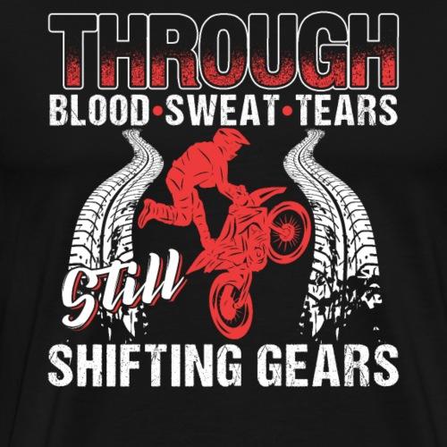 Motocross Shifting Gears - Men's Premium T-Shirt