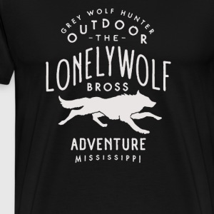 Vintage Style Lonely Wolf - Men's Premium T-Shirt