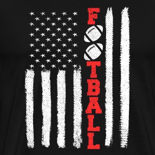 American Football American Flag T Shirt Gift - Men's Premium T-Shirt