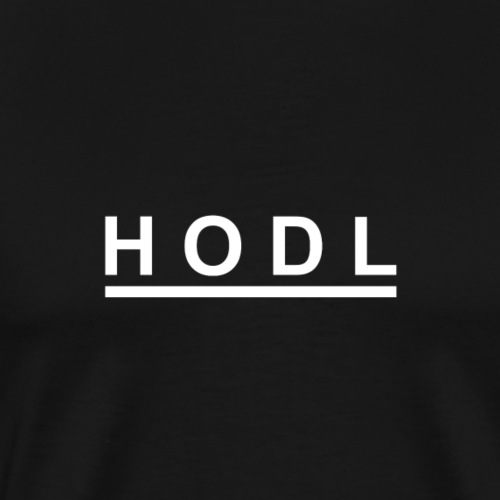 HODL white - Men's Premium T-Shirt