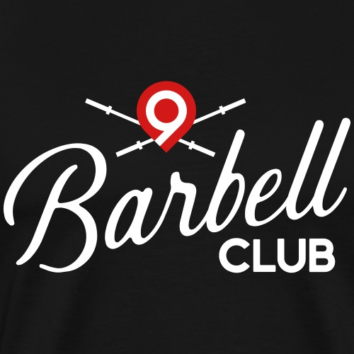 CrossFit9 Barbell Club (White) - Men's Premium T-Shirt
