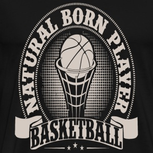 Natural hair - Natural Born Player Basketball - Men's Premium T-Shirt