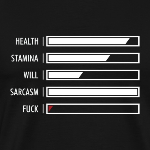 Typography of Life Status Bar - Men's Premium T-Shirt