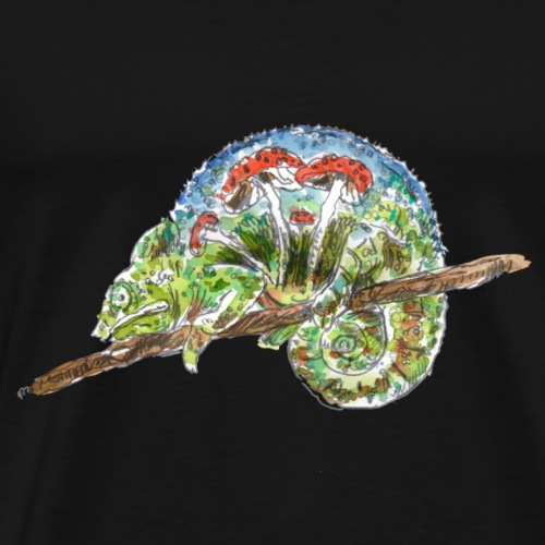 chameleon / fungi /mushrooms - Men's Premium T-Shirt