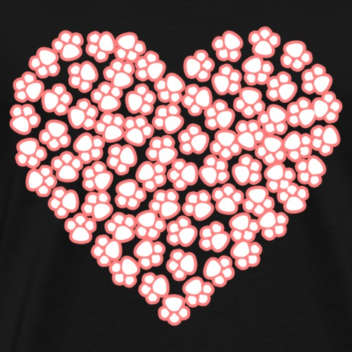 abstract dog's paw heart - Men's Premium T-Shirt