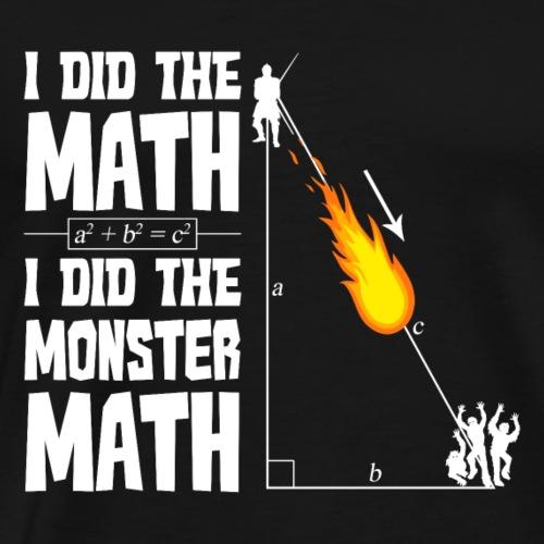 Monster Math - Men's Premium T-Shirt