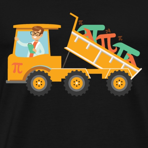 Pi Day Dump Truck Mathematicians, Math Scientists - Men's Premium T-Shirt