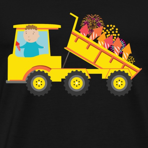 Dump Truck full of Fireworks for Fourth of July - Men's Premium T-Shirt