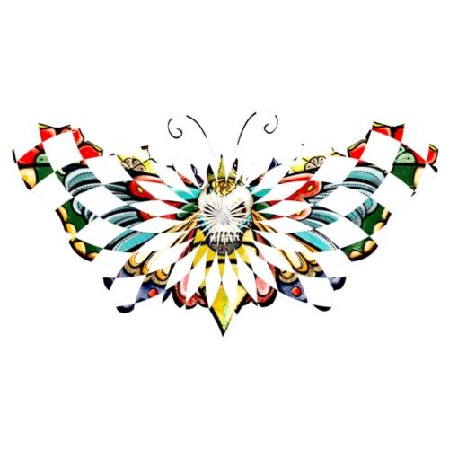 checkered butterfly - Men's Premium T-Shirt