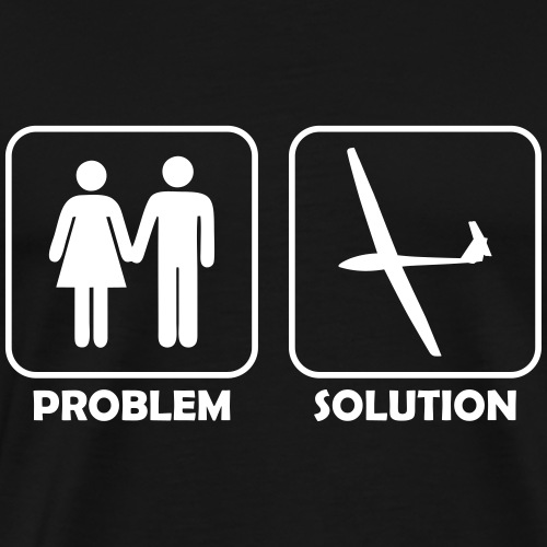 problem solution soaring gift present - Men's Premium T-Shirt