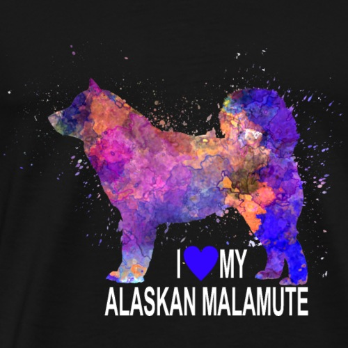Colorful Malamute - Men's Premium T-Shirt