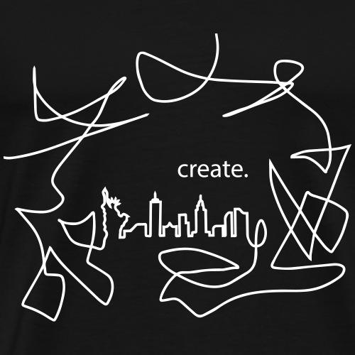 Skyline NewYork create - Men's Premium T-Shirt