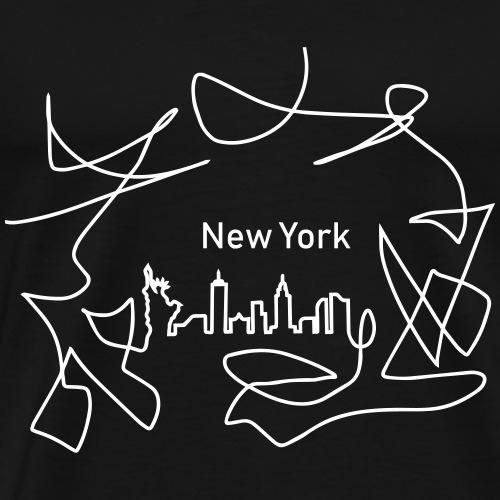 Skyline NewYork - Men's Premium T-Shirt