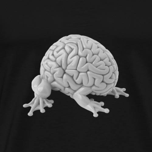 Brainimal, grey - Men's Premium T-Shirt