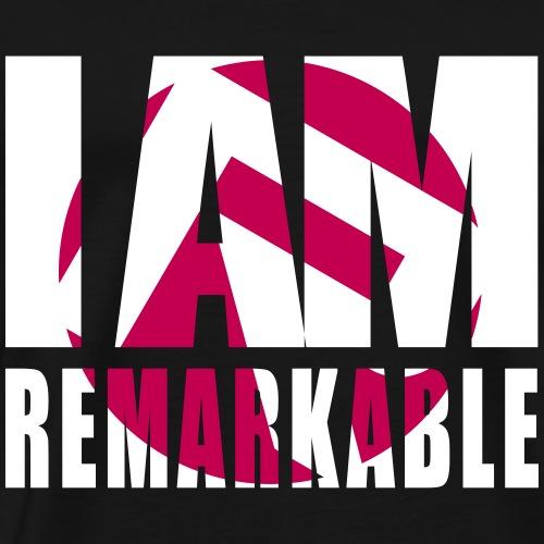 iamremarkablewhitemagenta - Men's Premium T-Shirt