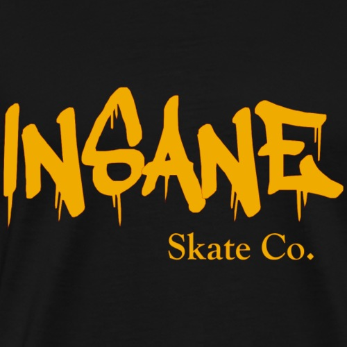 Insane Skate Co yellow - Men's Premium T-Shirt