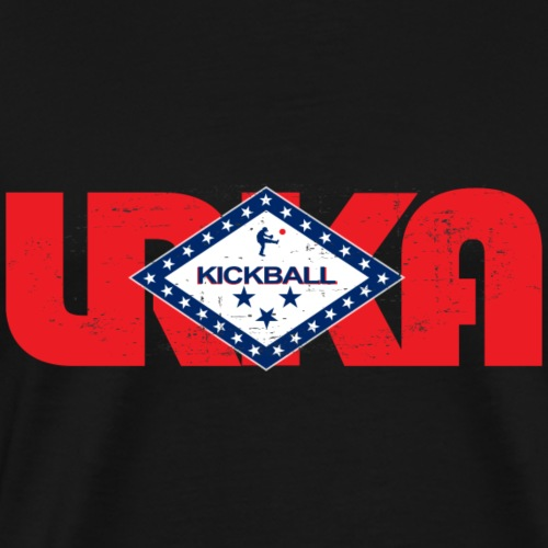 arkansas flag LRKA DISTRESSED - Men's Premium T-Shirt