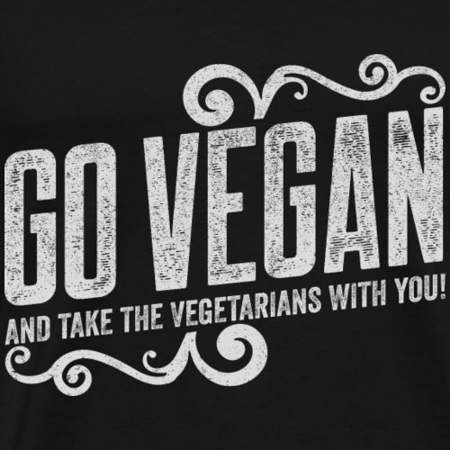 Go Vegan Print - Men's Premium T-Shirt