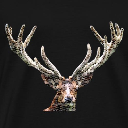 stained glass raindeer - Men's Premium T-Shirt