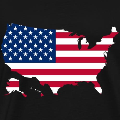 america stars and stripes map - Men's Premium T-Shirt