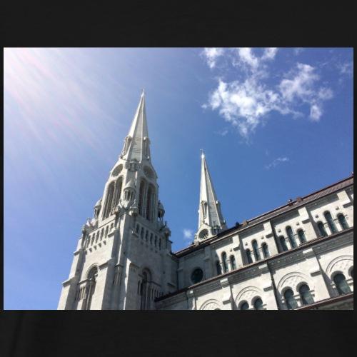 Ste-Anne-de-Beaupre Church. Light. Shine. - Men's Premium T-Shirt