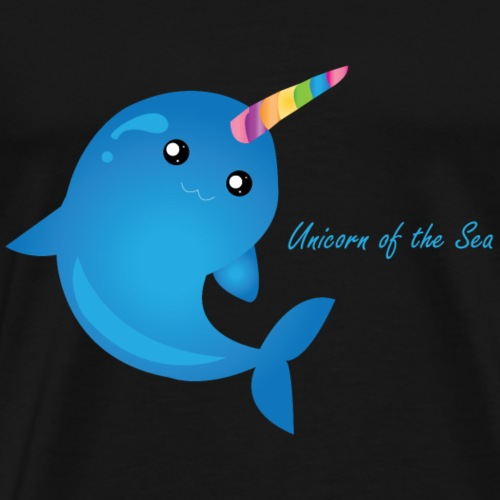 Unicorn of the Sea - Narwhal - Men's Premium T-Shirt